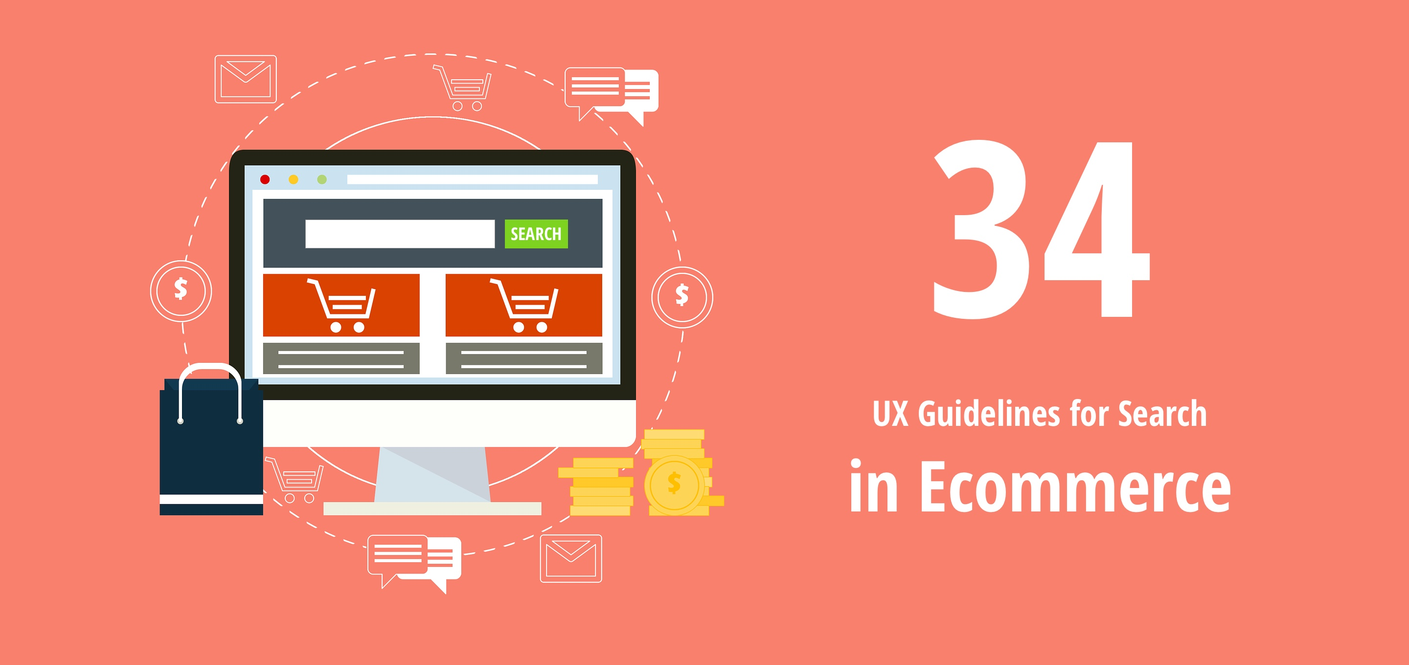 34 ux guidelines for search box and results page design for Design finder